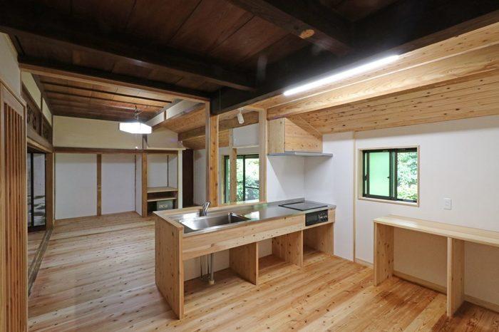 屋根裏部屋がある平屋